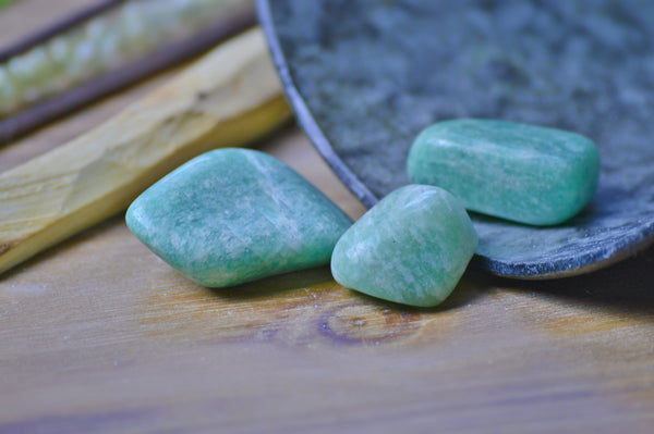 Amazonite Tumbled Stone Kit | Crystals | Chakra Healing | Natural Gemstone | Color Therapy Sacred Soul Stones