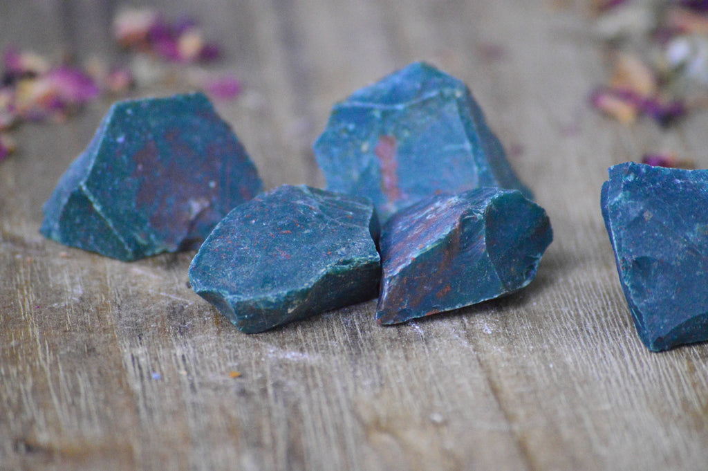 Rough Bloodstone Crystal for Cleansing & Purification Sacred Soul Stones