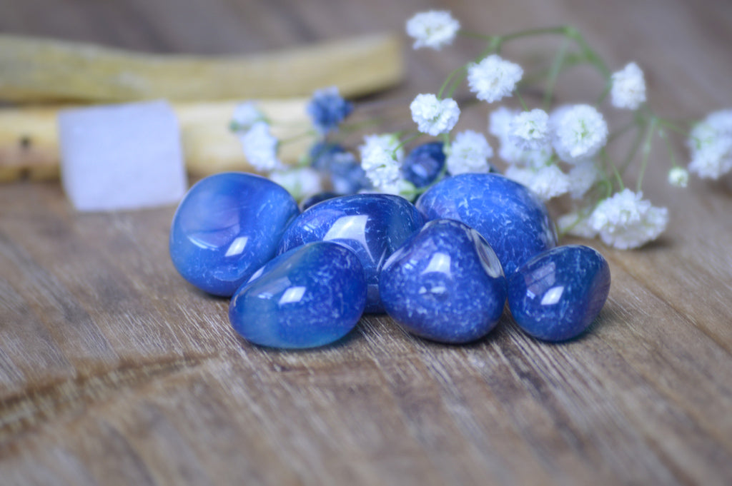 Blue Onyx Tumbled Stone Kit | Crystals | Chakra Healing | Color Therapy Sacred Soul Stones