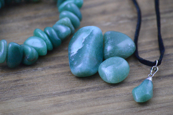 Green Aventurine Jewelry & Stones Set for Luck, Wealth, Abundance | Healing Crystals Gift Sacred Soul Stones