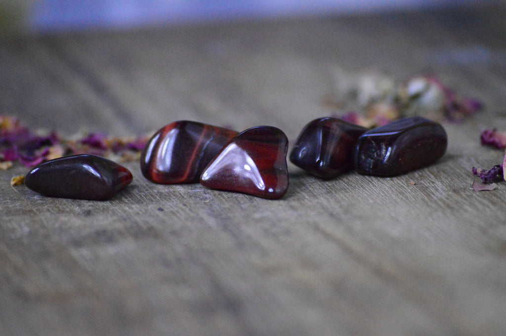 Red Tiger's Eye Stone Set for Vibrance and Vitality