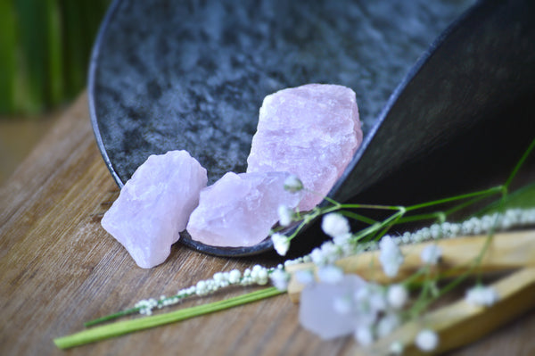 Rough Rose Quartz Piece (Med) | Rough Natural Stones | Heart Chakra | Crystals | Gemstone Specimen - Sacred Soul Stones