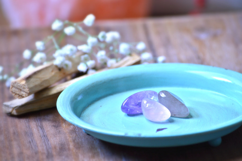 Emotional Balance Tumbled Stone Kit | Gemstones | Chakra Healing | Crystal Therapy Set | Amethyst, Rose Quartz, Smoky Quartz - Sacred Soul Stones
