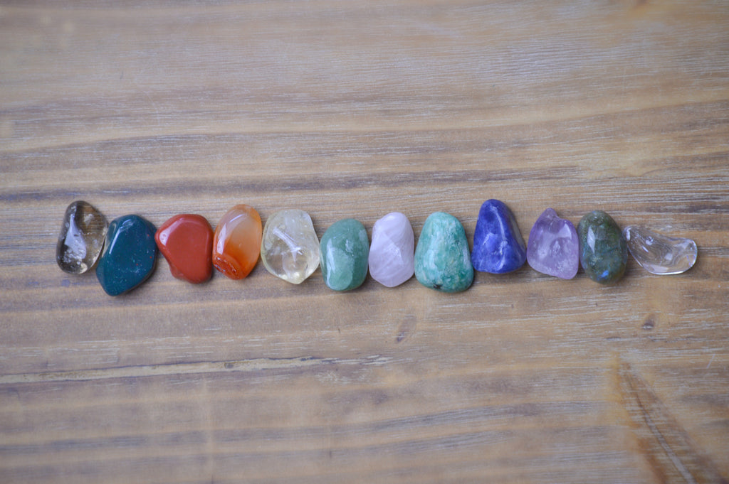 Beginners Stone Set | Essential Twelve Crystal Kit | Natural Crystals Stones Sacred Soul Stones