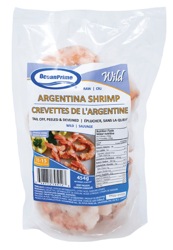 SHRIMP P&D TAIL OFF WILD RED ARGENTINA 11-15 454g FROZEN
