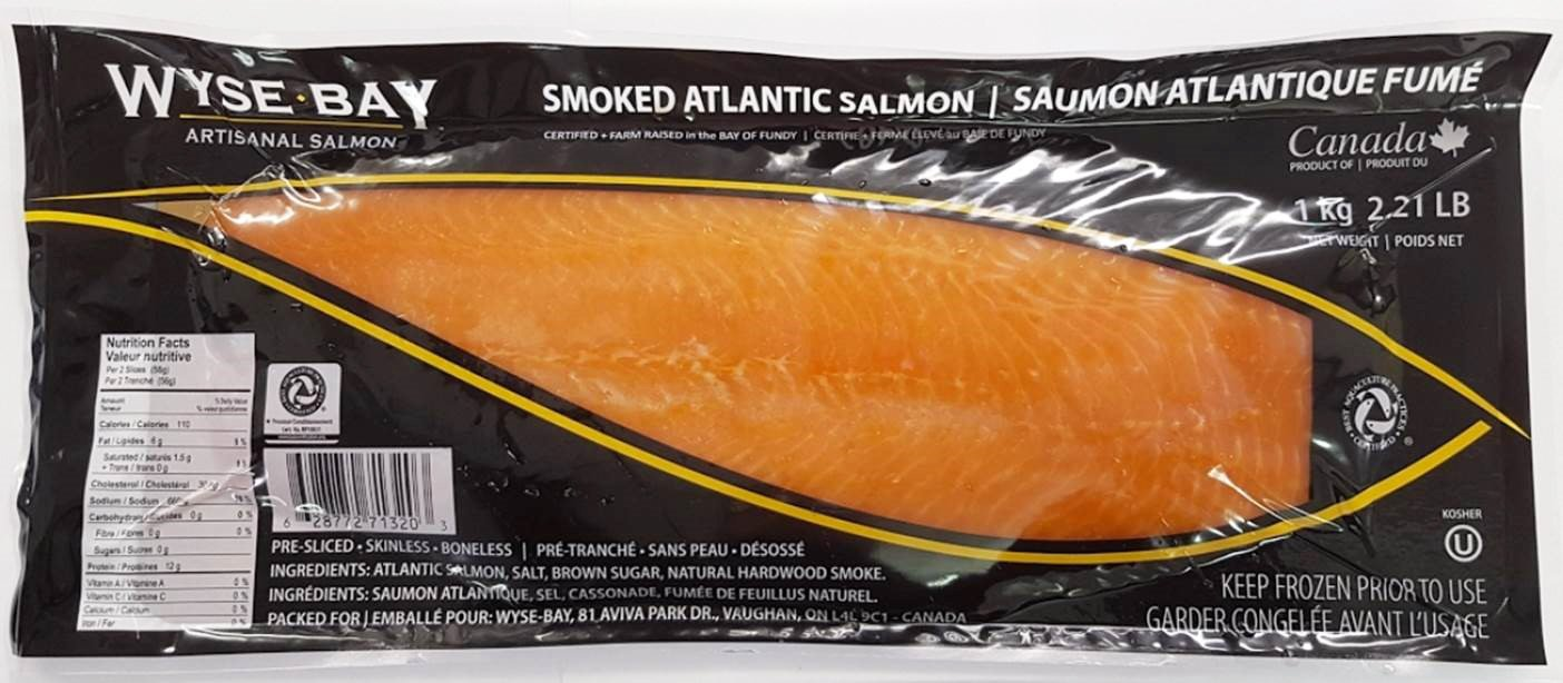 SMOKED SALMON CANADIAN ATL 1KG FROZEN
