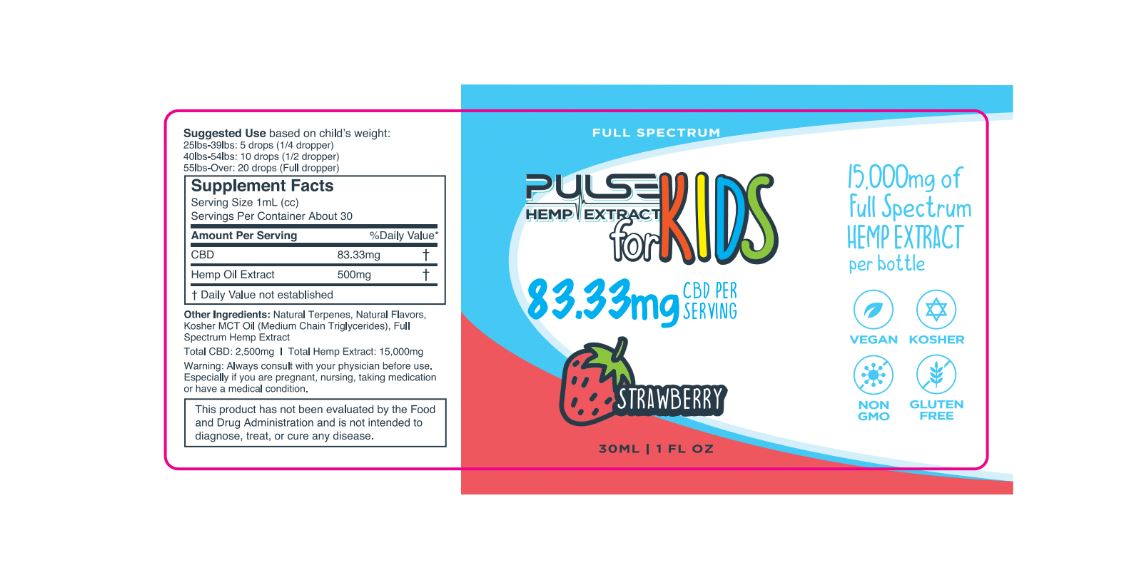 Pulse CBD Kids 15000mg - Strawberry