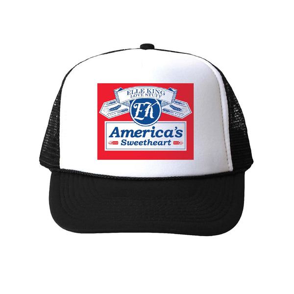 Elle King America's Sweetheart Beer Can Logo Trucker Hat