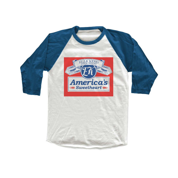 Elle King America's Sweetheart Beer Can Logo Raglan