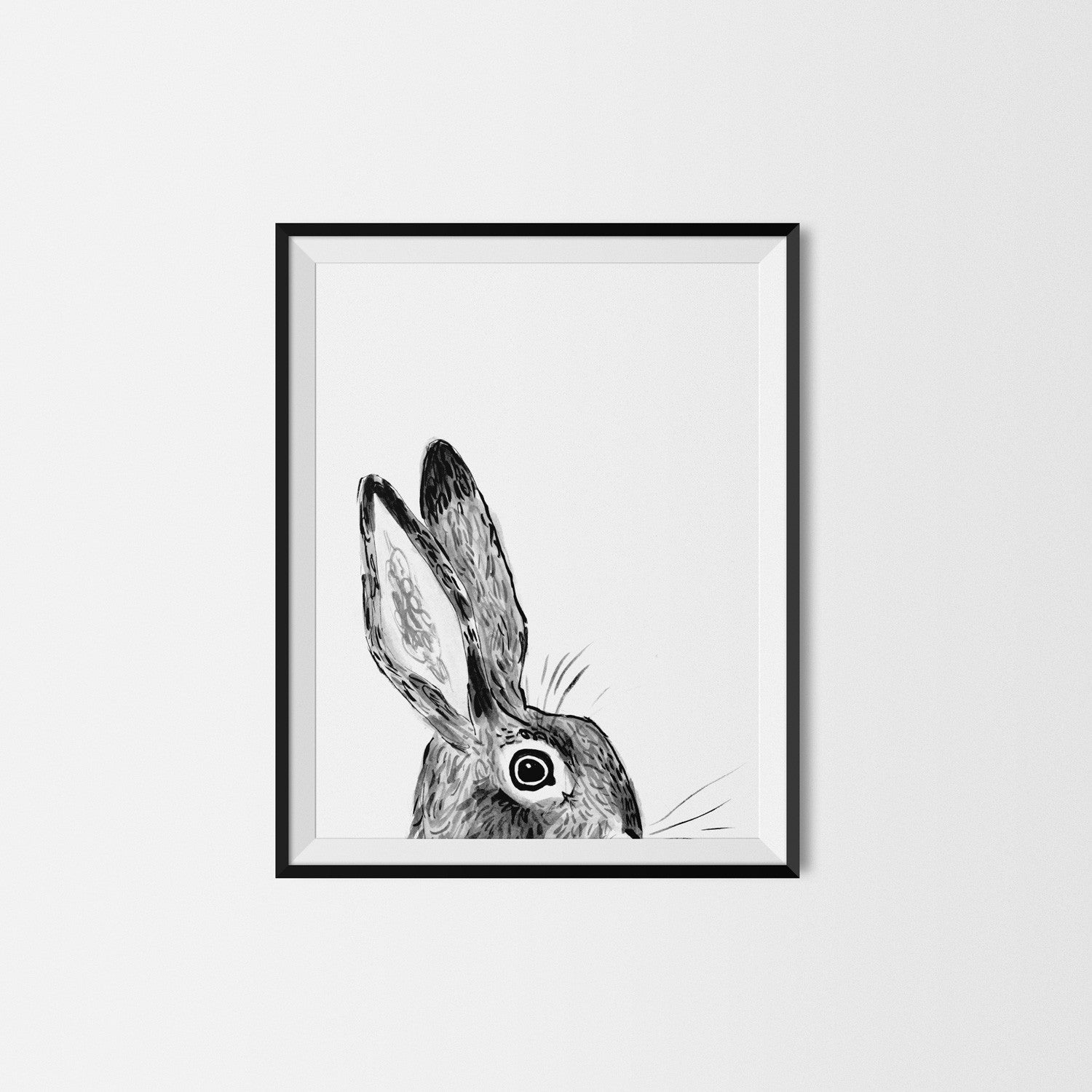 Clement Rabbit Art Print