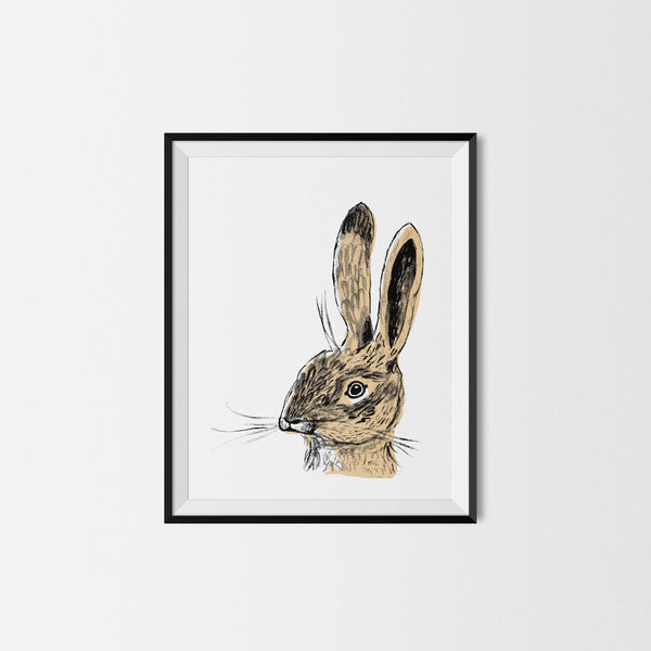 Brown Rabbit Art Print