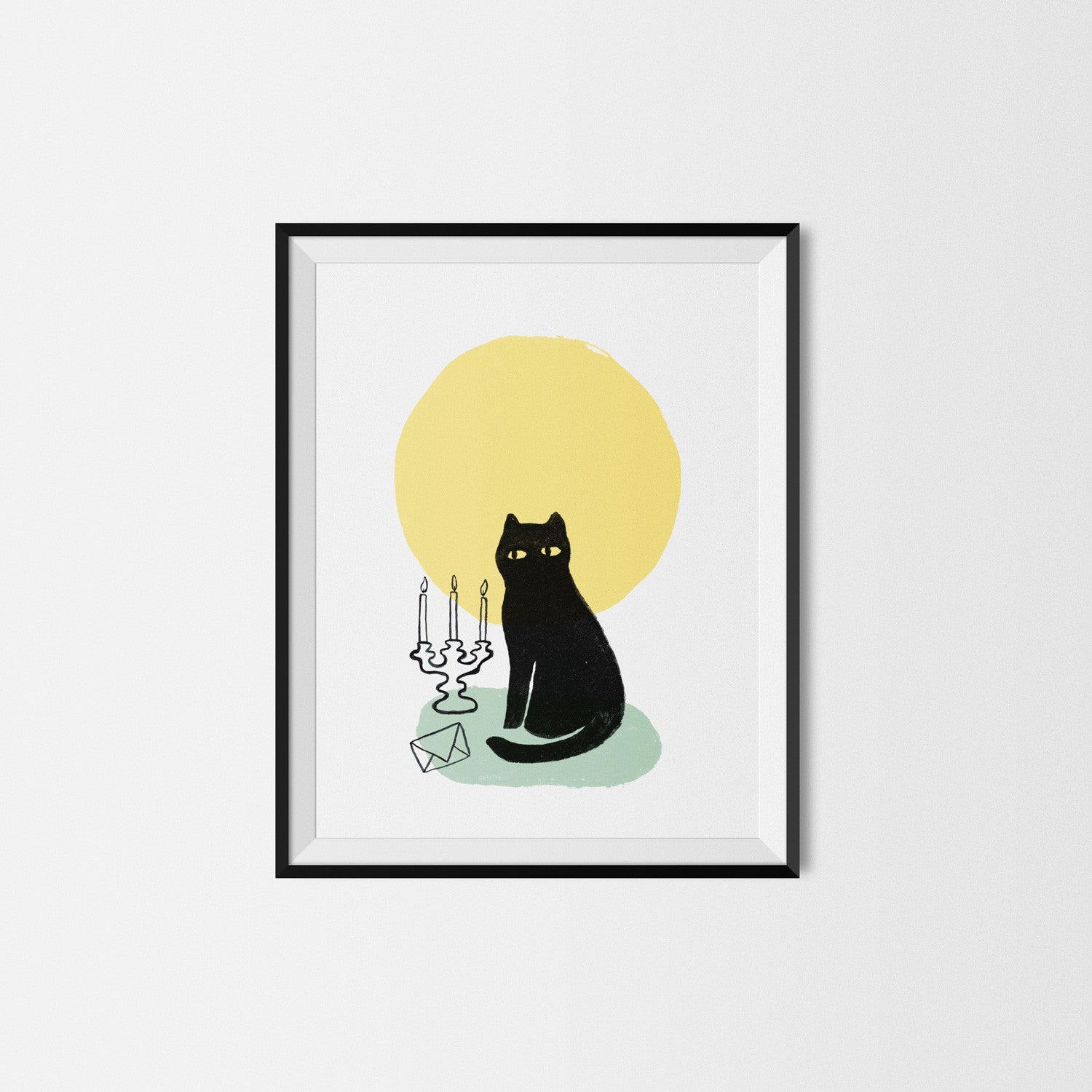 Cat in the Moon Art Print