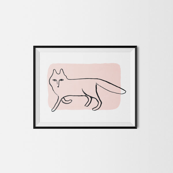 My Fox in Pink Art Print