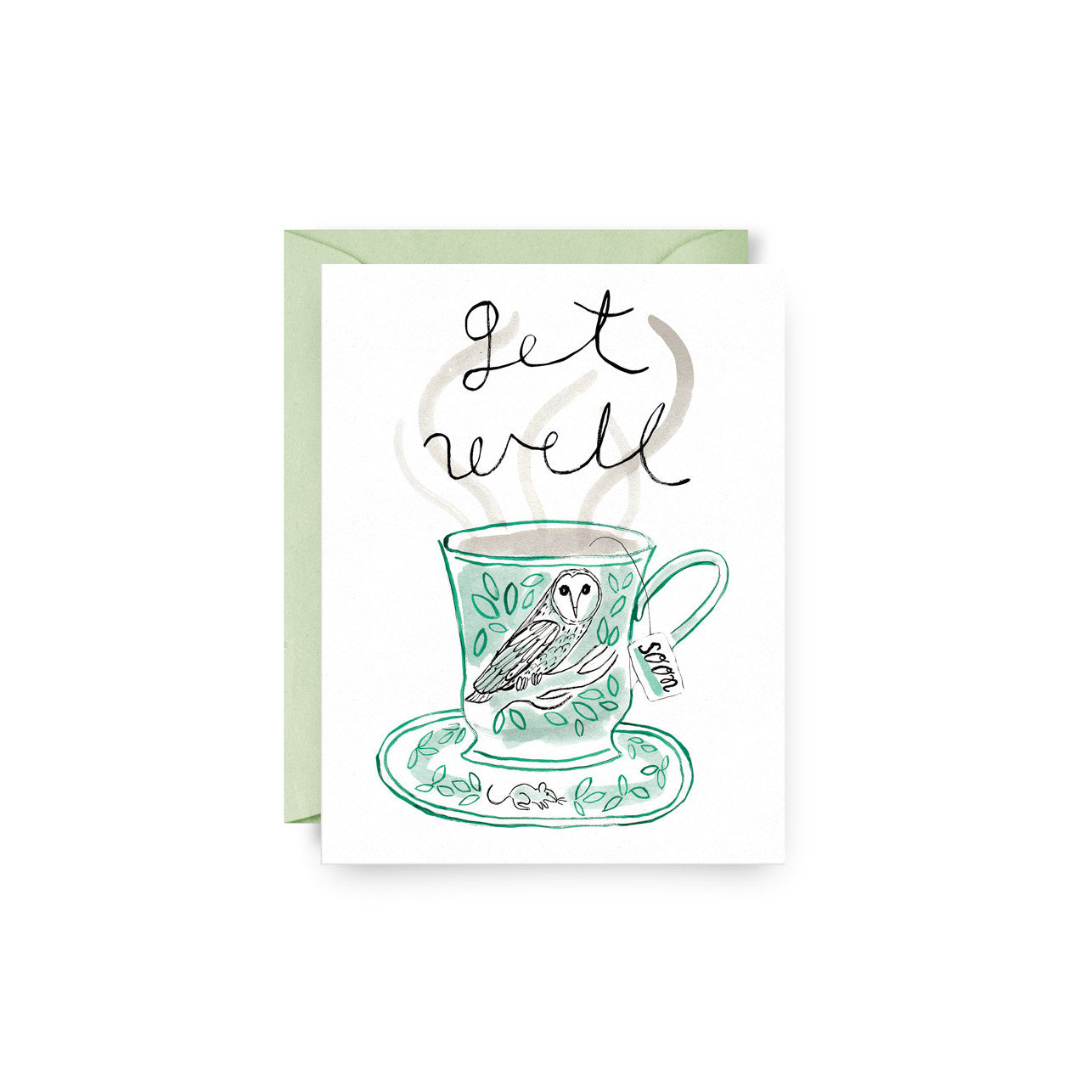 Get Well Teacup Card