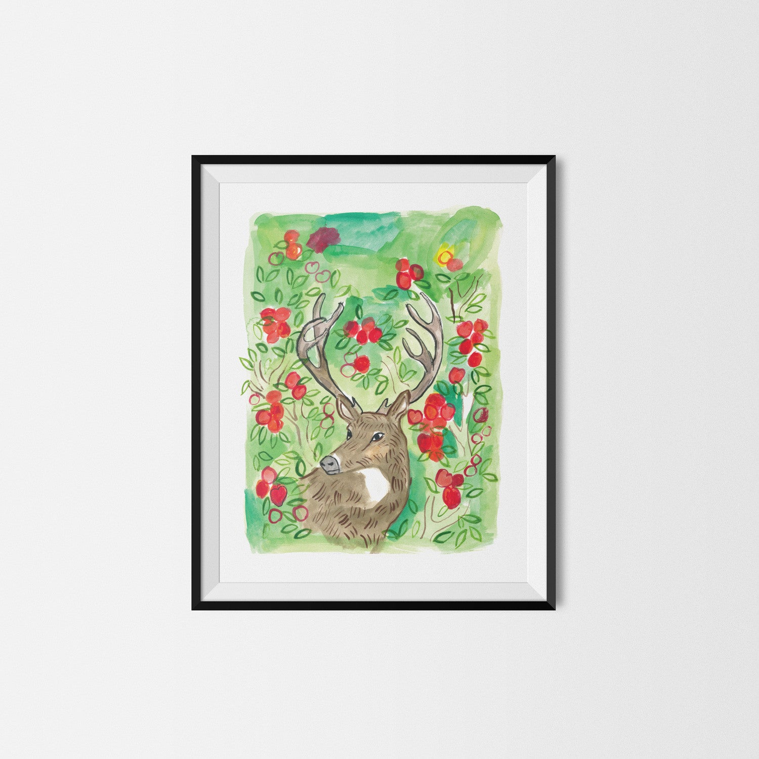 Horns & Apples Art Print