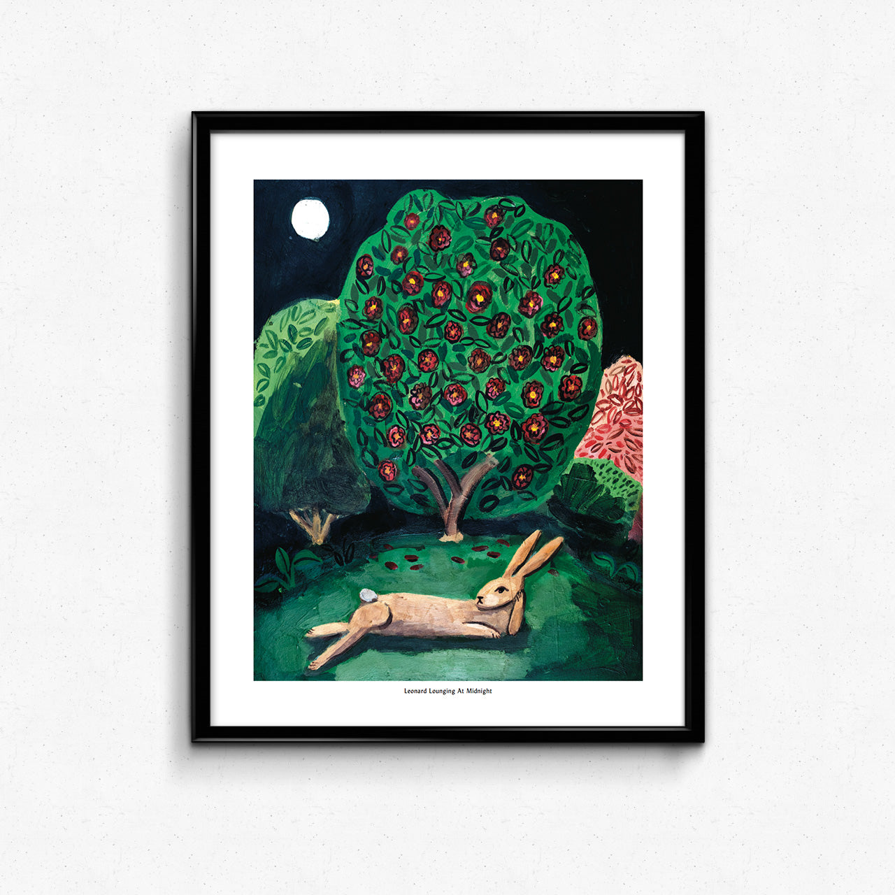 Leonard Lounging at Midnight Large Format Art Print