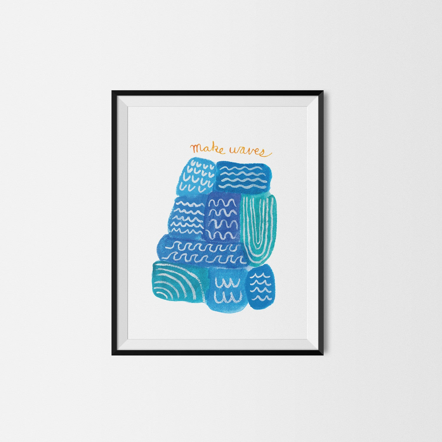 Make Waves Art Print