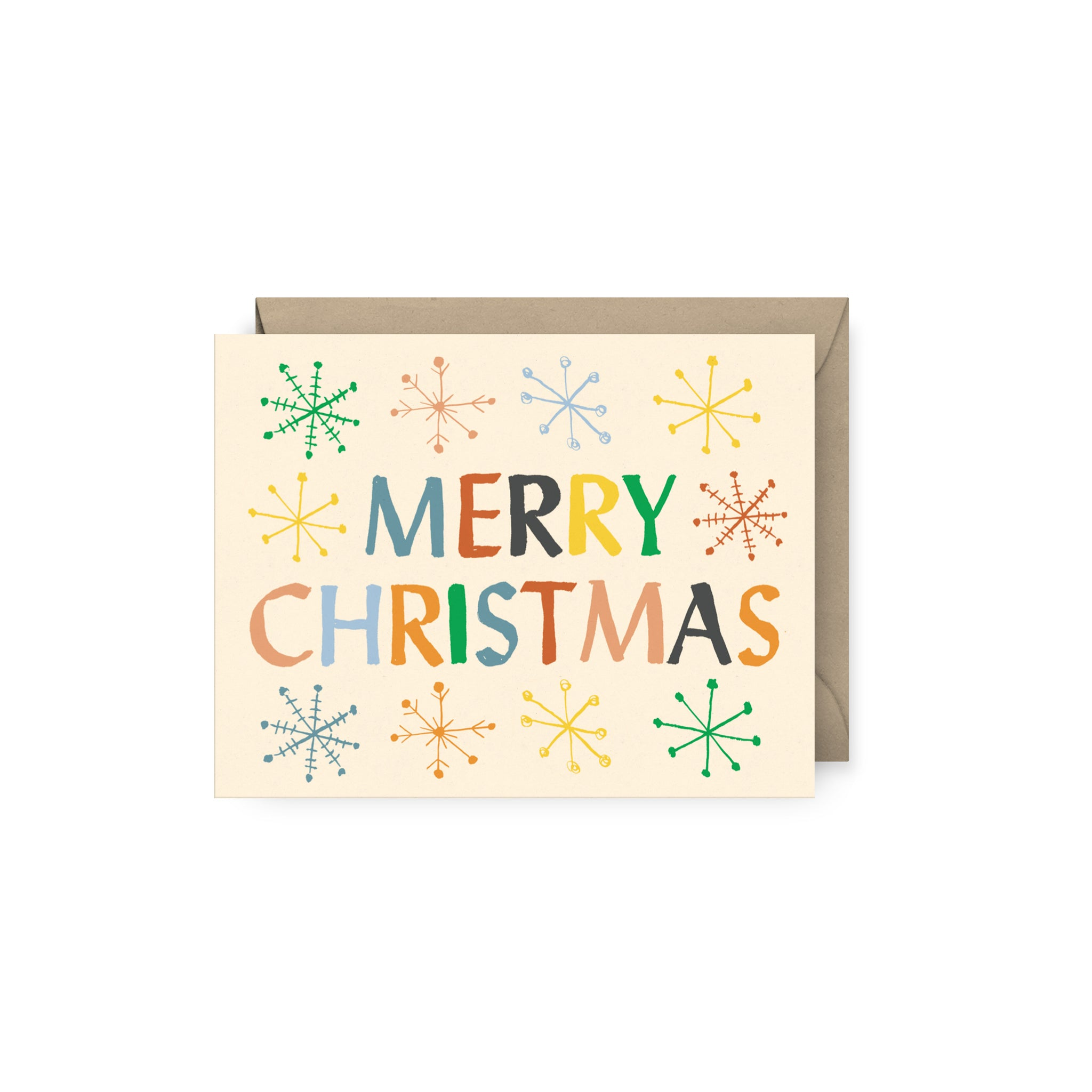 Merry Christmas Snowflake Card