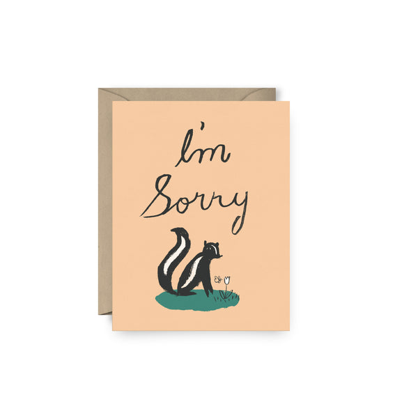 I'm Sorry Skunk Card