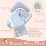 Babycuddleph Mom and Baby Set- Big Gray Clouds
