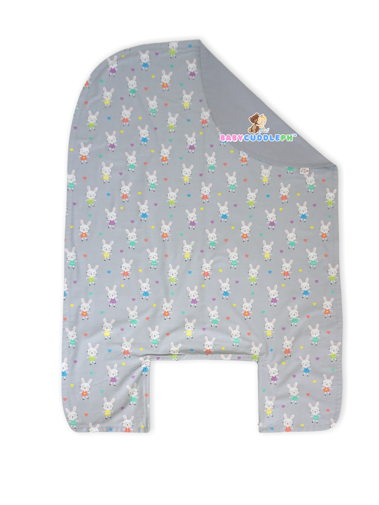 Bed Cover - Little Bunny in Pastel Gray
