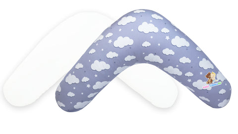 Babycuddle Nursing Pillow Cover - Big Gray Clouds