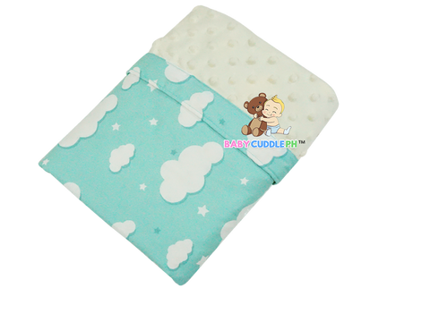 Babycuddle Blanket - Big Green Clouds