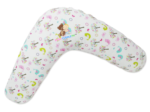 Babycuddle Nursing Pillow (Multi-use) - Birds and Butteflies
