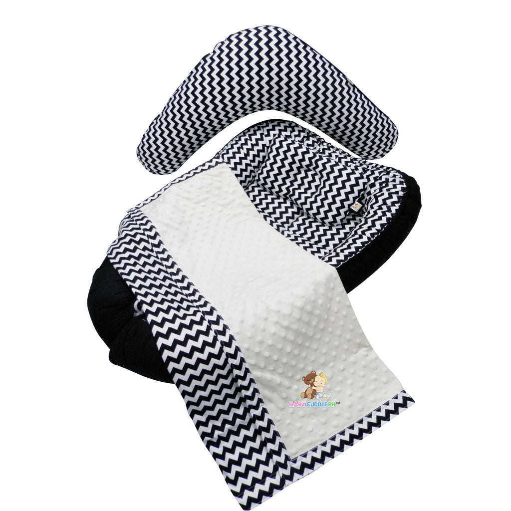 Babycuddleph Mom and Baby Set- Black Chevron