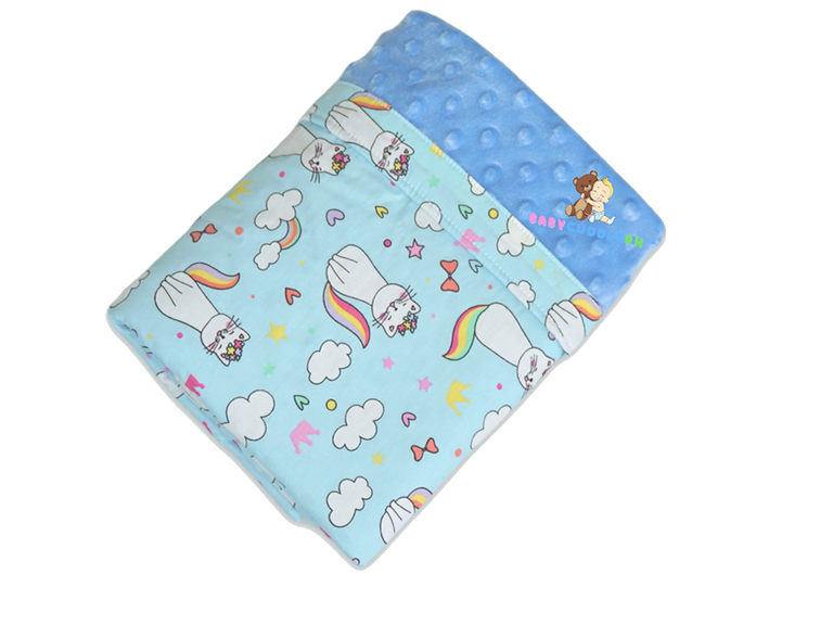 Babycuddle Blanket -  Cats in Blue