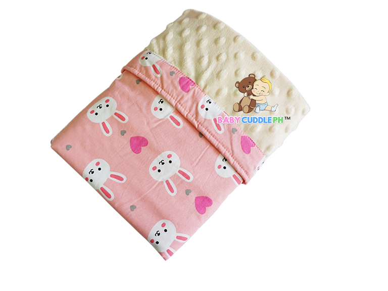 Babycuddle Blanket - Bunny in Coral Pink