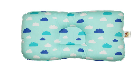 Babycuddle Head Pillow - Blue Clouds