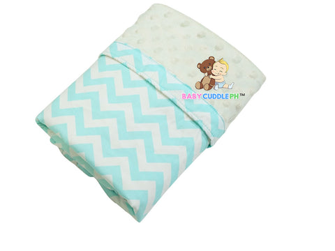 Babycuddle Blanket - Chevron Green