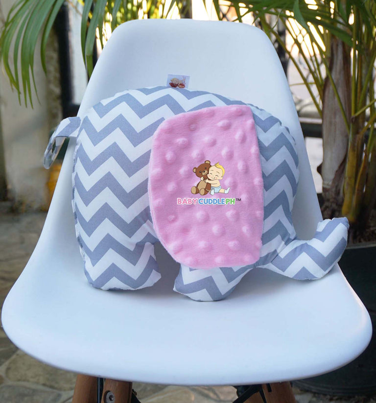 Elephant Bamse Chevron ( Pink Ear)