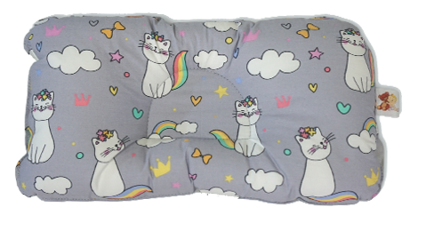 Cats in Gray -  Babycuddle Head Pillow