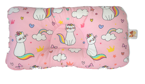 Cats in Pink -  Babycuddle Head Pillow