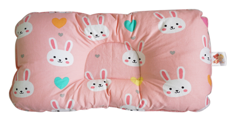 Bunny in Coral Pink -  Babycuddle Head Pillow
