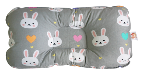 Bunny in Light Gray-  Babycuddle Head Pillow