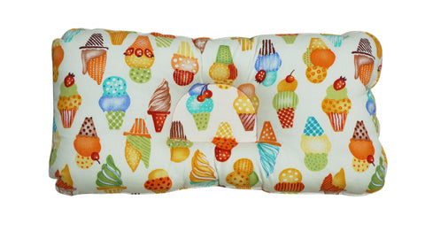Babycuddle Head Pillow - Ice Cream in Tangerine