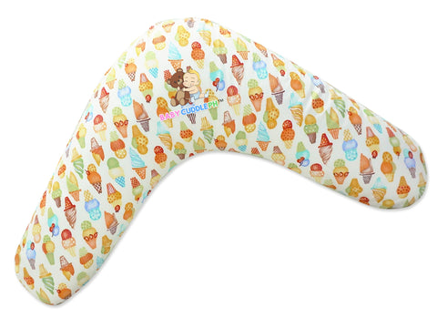 Babycuddle Nursing Pillow (Multi-use) - Ice Cream in Green