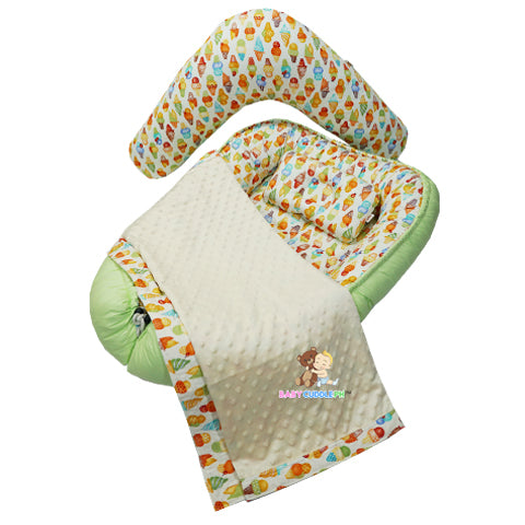 Babycuddleph Mom and Baby Set- Ice Cream in Green
