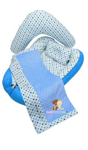 Babycuddleph Mom and Baby Set- Little Blue Star