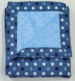 Babycuddle Blanket - Mini Stars in Blue