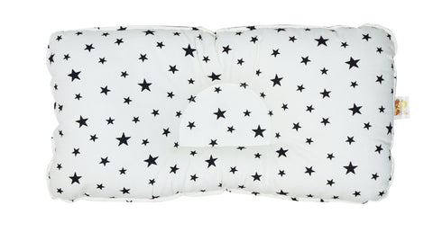 Babycuddle Head Pillow - Mini Black Stars