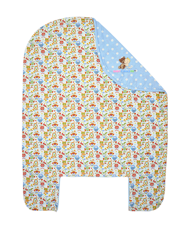 Bed Cover - Little Owl in Blue