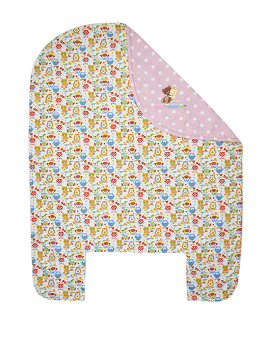 Bed Cover - Little Owl in Pink