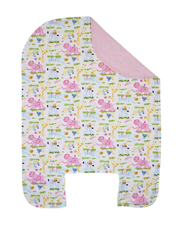 Bed Cover - Zoofari in Pink