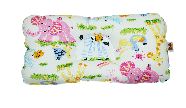 Babycuddle Head Pillow - Zoofari in Teal