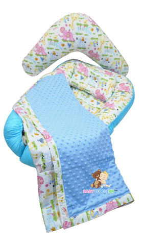 Babycuddleph Mom and Baby Set- Zoofari in Blue