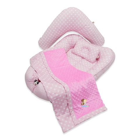 Babycuddleph Mom and Baby Set- Dotted Pink Star